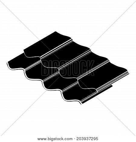 Metal tile icon. Simple illustration of metal tile vector icon for web design isolated on white background