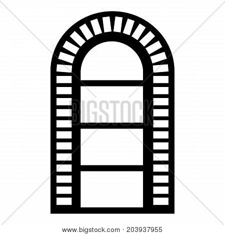 Narrow window frame icon. Simple illustration of narrow window frame vector icon for web