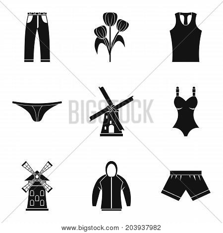 Farmer clothing icon set. Simple set of 9 farmer clothing vector icons for web design isolated on white background