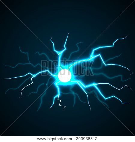 Flash lighting concept background. Realistic illustration of flash lighting vector concept background for web design