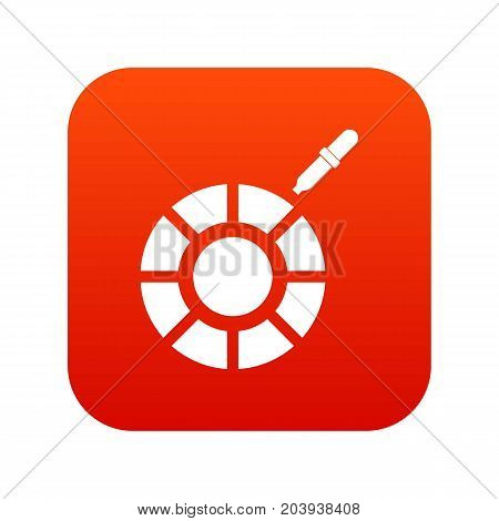 Color picker icon digital red for any design isolated on white vector illustration
