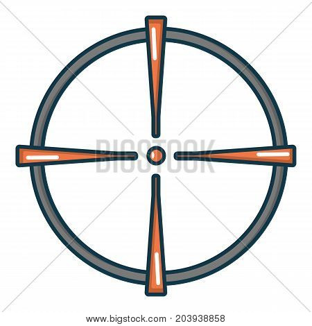 Paintball sight icon. Cartoon illustration of paintball sight vector icon for web