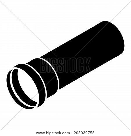 Plastic pipe icon. Simple illustration of plastic pipe vector icon for web design isolated on white background