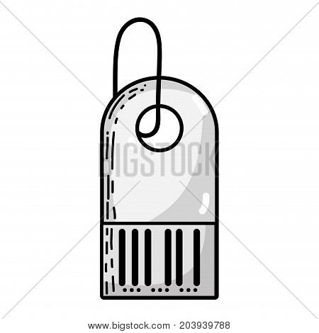 grayscale business label element to know price vector illustration