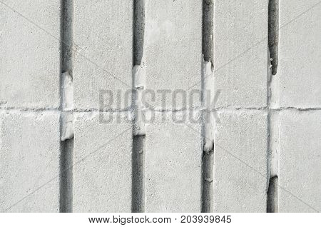 Concrete Tiles for Paving and Finishing with Parallel Grooves. Texture of building material