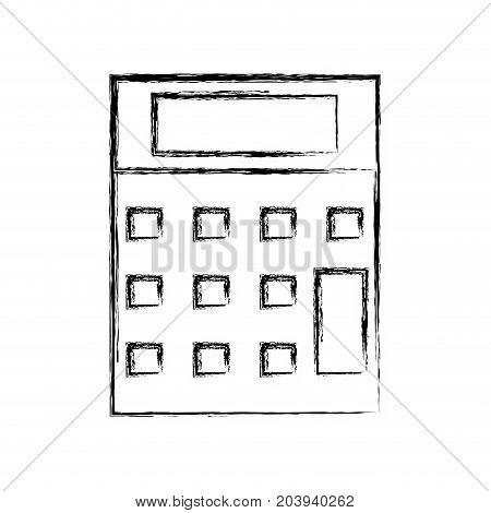 figure technology calculator tool to account economy vector illustration