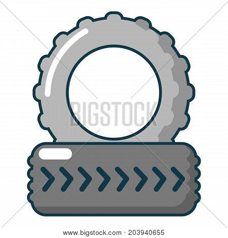 Paintball field tire heap icon. Cartoon illustration of paintball field tire heap vector icon for web