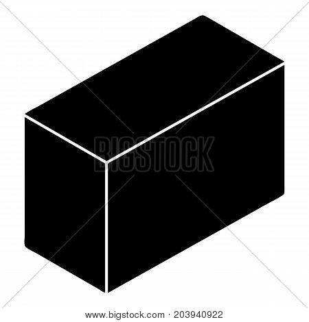 Cement block icon. Simple illustration of cement block vector icon for web design isolated on white background