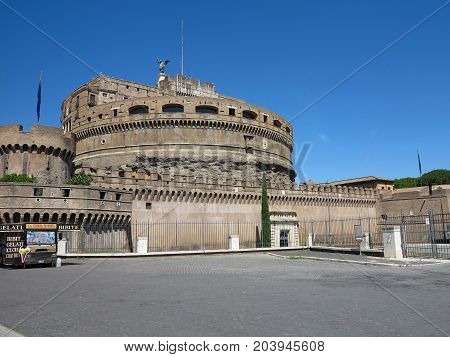 19.06.2017 Roma Italy: The castle of the holy angel Mausoleum of Hadrian