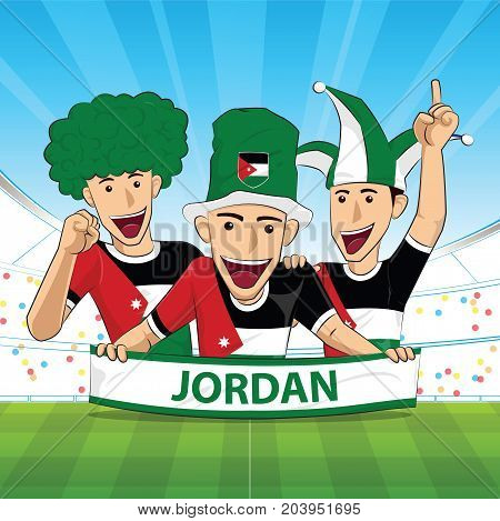 jordan Flag. Cheer football support Vector illustration.