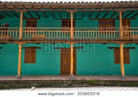 March 12 2017 Vilcabamba Ecuador: colonial architecture in the remote indigenous town