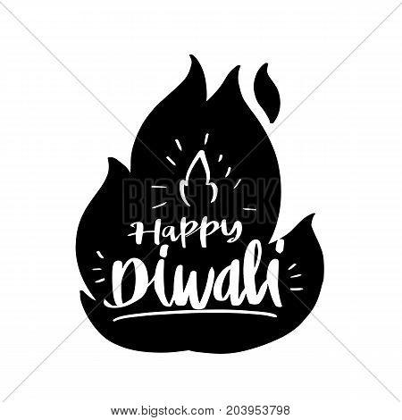 Happy Diwali celebration of happy Deepavali light and fire festival vector illustration greeting or invitation card design.