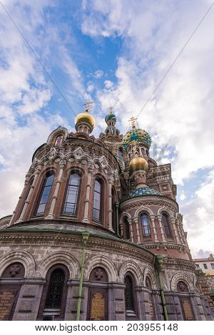 ST.PERSBURG/RUSSIA - JULY 19, 2017. Spas-on-the-Blood in St. Petersburg is one of the most beautiful, festive and colorful churches in Russia.