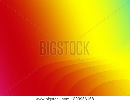 Rainbow red abstract fractal art. Bright background illustration with gradients and subtle lines in vivid colors. Creative graphic template. Simple energetic elegant style. For designs layouts skins
