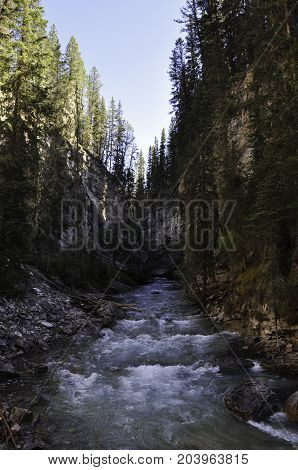 Johnston Canyon in Banff National Park Alberta, Canada