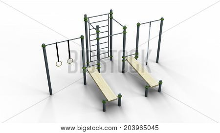street sport rack complex 6 isolated on a white background 3d illustration render