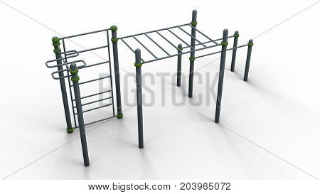 street sport rack complex 8 isolated on a white background 3d illustration render