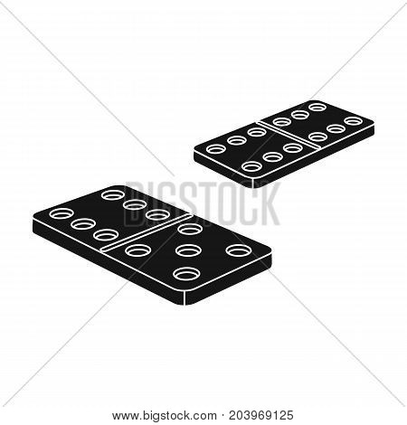 Game, single icon in black style.Game, vector symbol stock illustration .