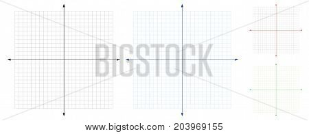 Blank of cartesian coordinate system vector . illustration
