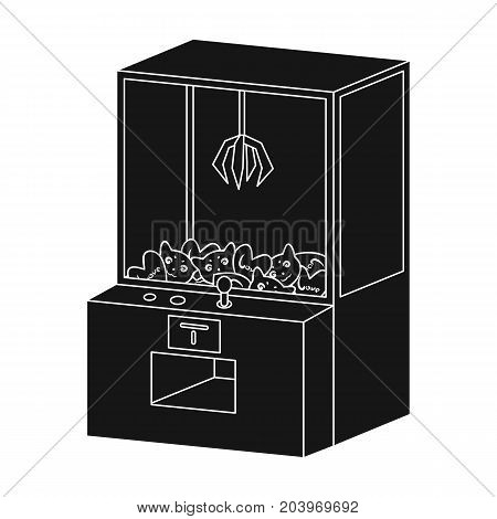 Game terminal with toys. Terminal single icon in black style isometric vector symbol stock illustration .