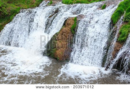 Dzhurynskyi Waterfall, Ukraine.