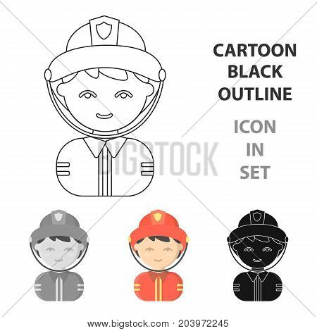 Fireman cartoon icon. Illustration for web and mobile.