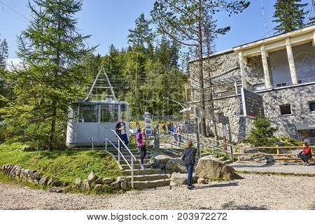 Zakopane, Poland - September 10, 2017: Cable Car From Zakopane T
