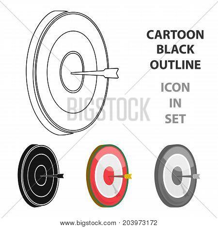 Darts icon in cartoon design isolated on white background. Pub symbol stock vector illustration.