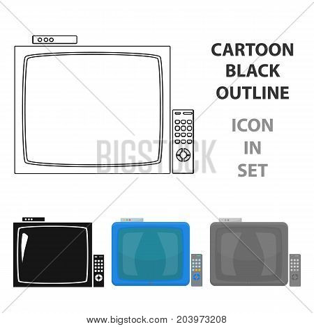 Pub television icon in cartoon design isolated on white background. Pub symbol stock vector illustration.