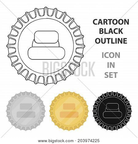 Metal beer cap.Lid for closing bottles . Pub single icon in cartoon style vector symbol stock web illustration.