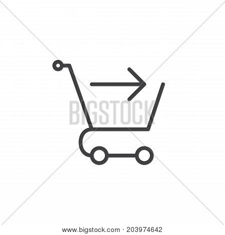 Checkout line icon, outline vector sign, linear style pictogram isolated on white. Symbol, logo illustration. Editable stroke. Pixel perfect vector graphics