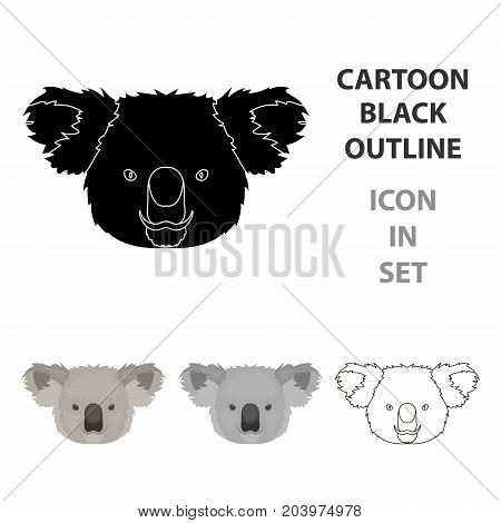 Koala icon in cartoon design isolated on white background. Realistic animals symbol stock vector illustration.