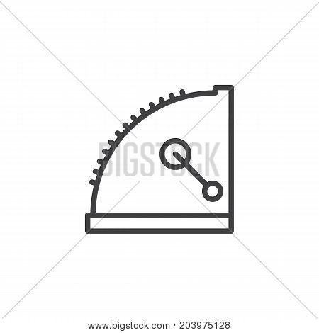 Old cash register line icon, outline vector sign, linear style pictogram isolated on white. Symbol, logo illustration. Editable stroke. Pixel perfect vector graphics