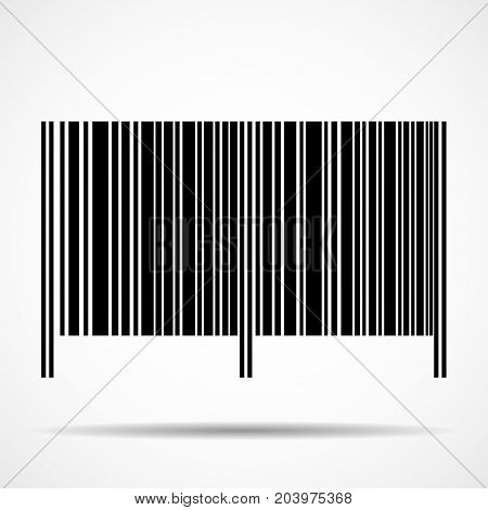 Barcode isolated on white background. Vector sign symbol