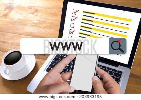 Www Website Online Internet Web Page Computer Browser Connection Network Concept To Use Www