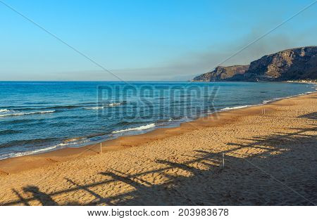 Morning Sandy Sea Beach