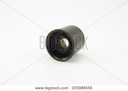 old disassembled lens on an isolated white background