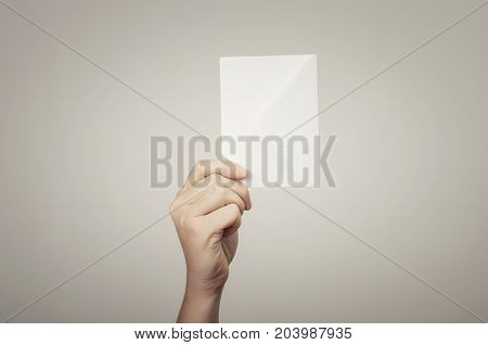 You have got a mail! Business man hand holding envelope.