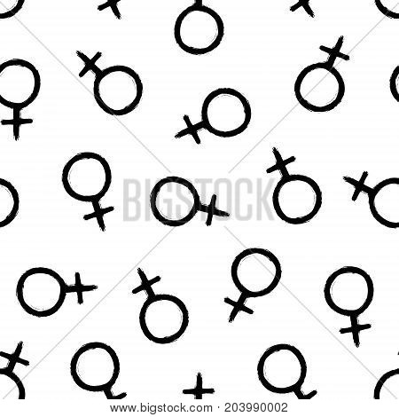 Venus - grunge seamless pattern on the white background