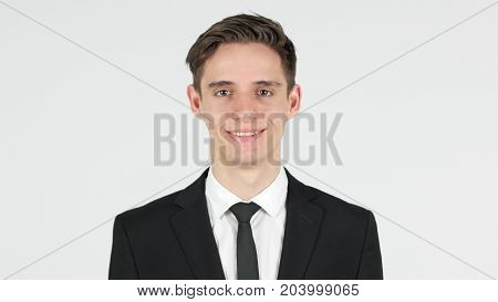 Smiling Businessman, White Background