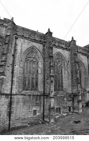 An external view of a church in stirling