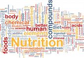 Background concept wordcloud illustration of nutrition food health poster