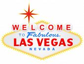 Welcome to Las Vegas vector illustration poster
