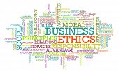 Business Ethics and Guidelines as a Concept Word Cloud poster
