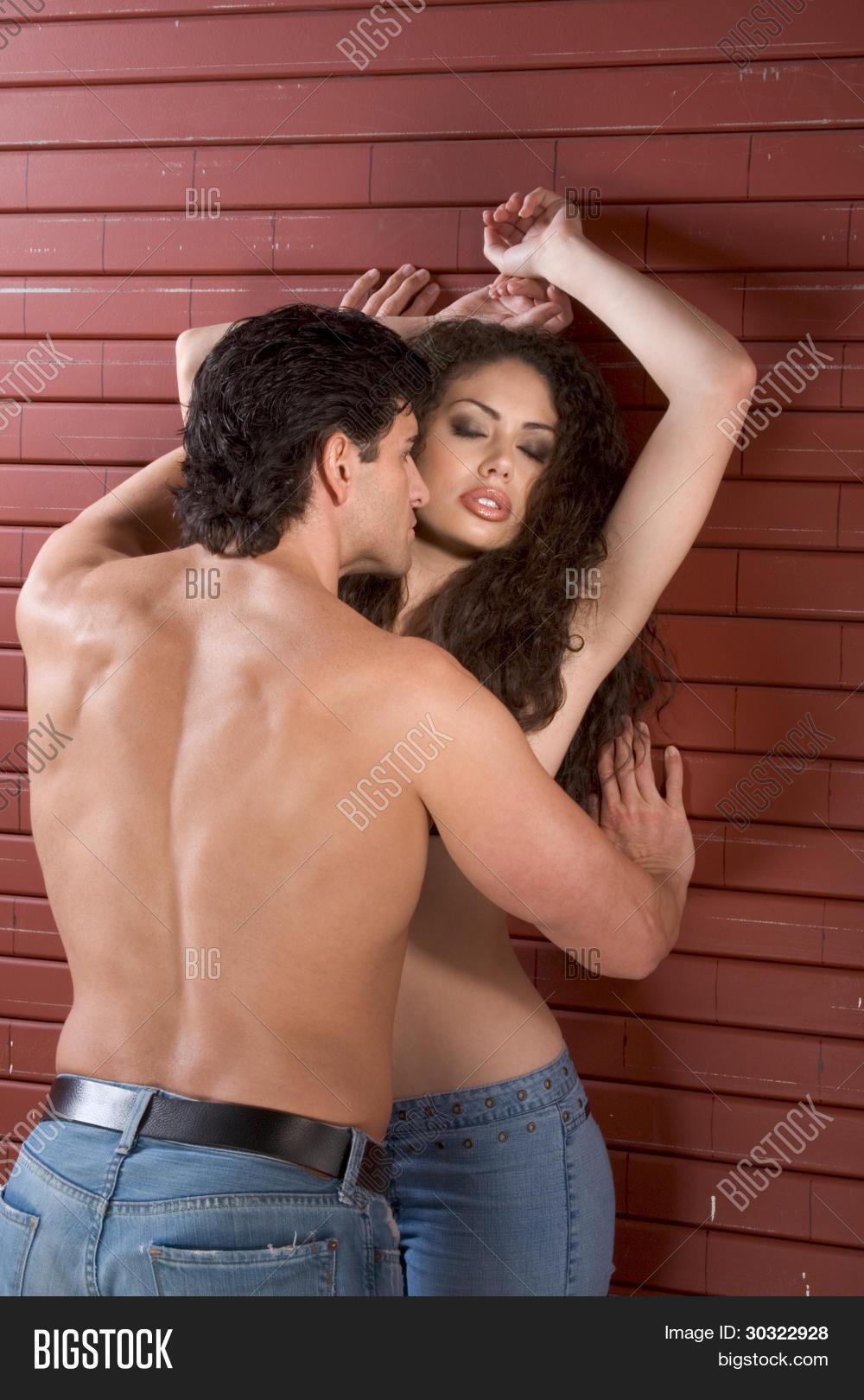 young naked man woman love kissing image & photo | bigstock