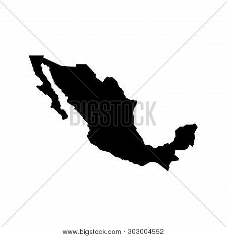 Mexico Map Icon. Mexico Vector Map Icon For Atlas On White Background. Simple Illustration Of Mexico