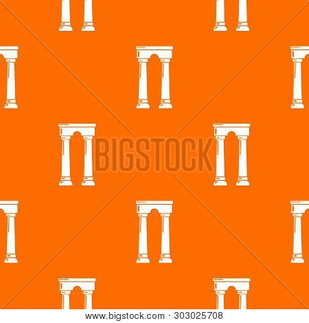 Archway Egypt Pattern Vector Orange For Any Web Design Best
