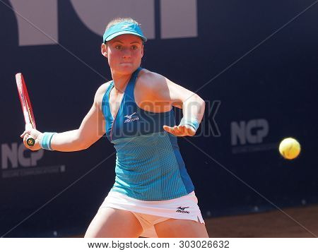 Nuremberg, Germany - May 25, 2019: Slowenian Player Tamara Zidansek At The Euro 250.000 Wta Versiche