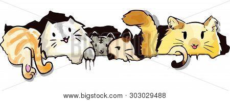 Cat Cute Cartoon Vector Photo Free Trial Bigstock