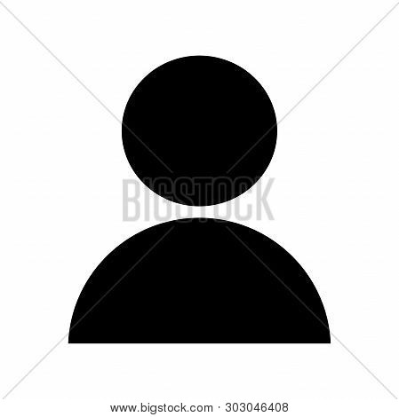 User Icon In Trendy Flat Style Isolated On White Background. User Silhouette Symbol For Your Web Sit